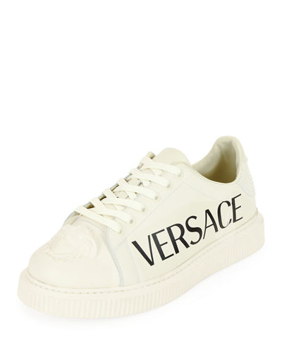 Men's Medusa and Logo-Print Sneakers