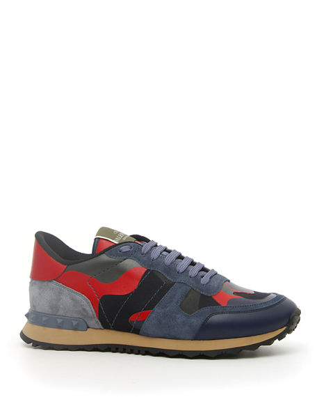 Valentino Garavani Men's Rock Runner Camo Trainer Sneakers