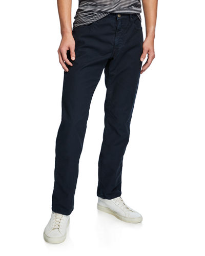 Men's 5-Pocket Chino Flat-Front Pants