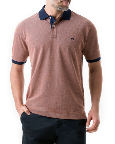 Men's Chadbury Polo Shirt with Contrast Collar & Cuffs