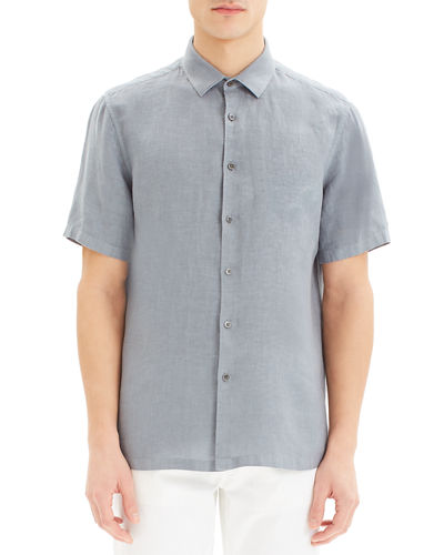Theory Men's Murray Summer Linen Sport Shirt
