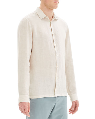 Theory Men's Murray Summer Linen Long-Sleeve Sport Shirt