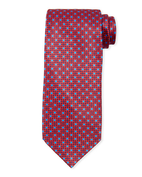Stefano Ricci Men's Medium Medallion Floral Silk Tie