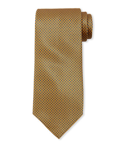 Men's Small Neat Silk Tie