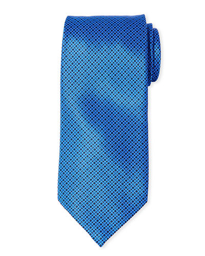 Men's Small Squares Silk Tie