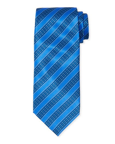 Stefano Ricci Men's Large Stripe Silk Tie