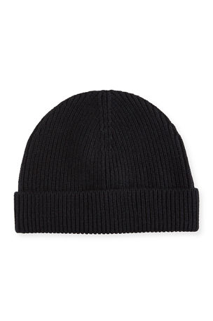 Neiman Marcus Men's Cashmere Ribbed Beanie