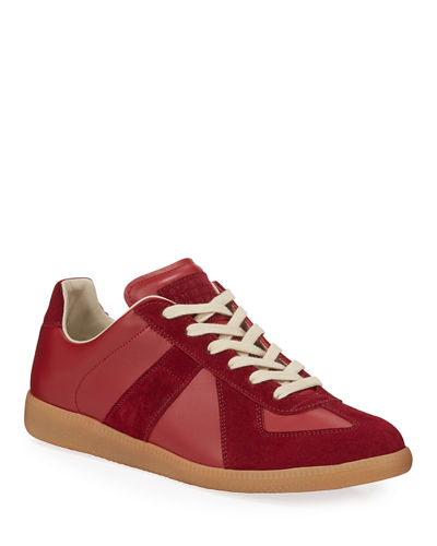 Men's Replica Low-Top Leather Sneakers