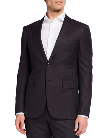 Ermenegildo Zegna Men's Regular-Fit Trofeo Stripe Two-Piece Suit