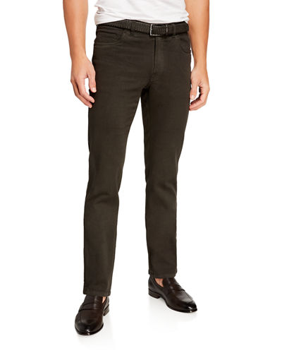 Men's Solid Straight-Leg Jeans