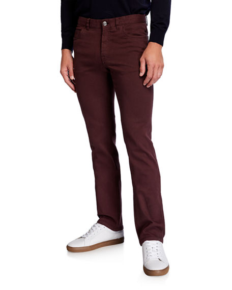 Brioni Men's Solid Straight-Leg Jeans