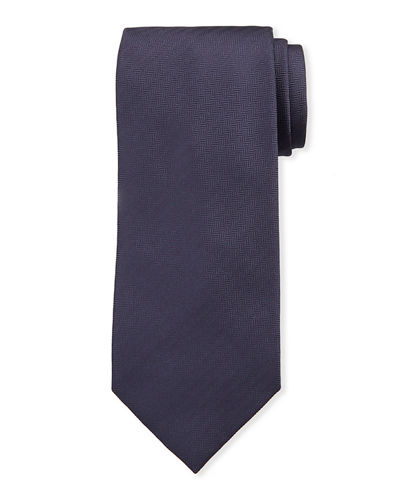 Men's Woven Chevron Silk Tie