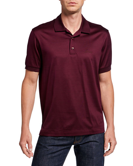 Brioni Men's 3-Button Cotton Polo Shirt