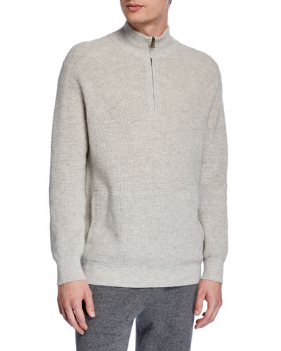 Men's Thermal Quarter-Zip Sweater