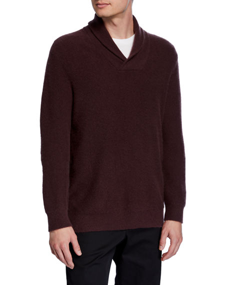 Vince Men's Cashmere Shawl Collar Popover Sweater