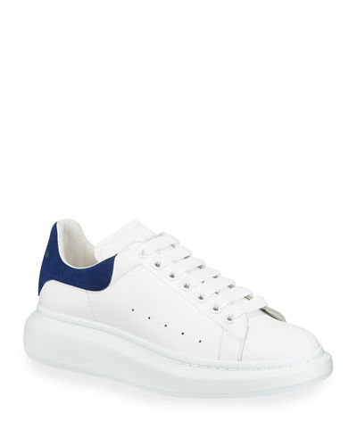 Alexander McQueen Men's Oversized Leather Low-Top Sneakers