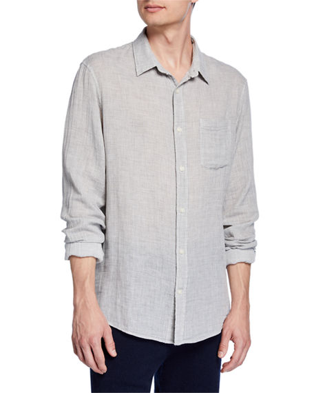 Vince Men's Solid Double-Face Cotton Sport Shirt