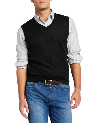 Men's Cashmere Pullover Sweater Vest