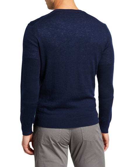 Image 2 of 2: Neiman Marcus Men's Cashmere Long-Sleeve Henley Shirt