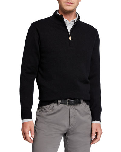 Men's Cloud Cashmere Quarter-Zip Sweater