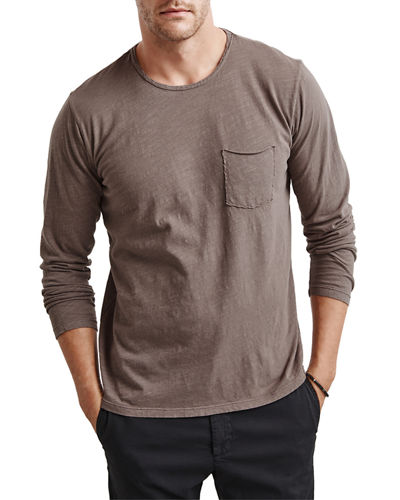Men's Simeon Crewneck Long-Sleeve Pocket T-Shirt