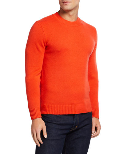 Men's Cashmere Ribbed Crewneck Sweater