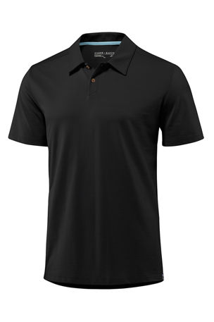 Fisher + Baker Men's Kent Asymmetric-Button Polo Shirt