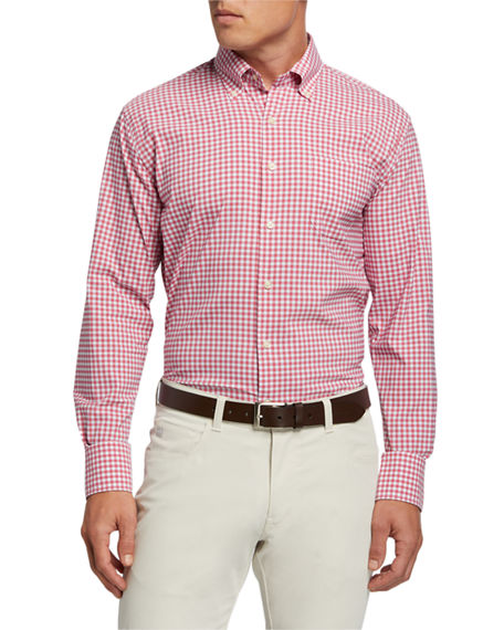 Peter Millar Men's Performance Weave Sport Shirt