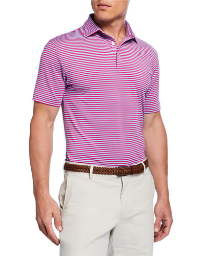 Men's Competition Striped Polo Shirt
