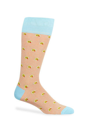Neiman Marcus Men's Emoji Striped Socks