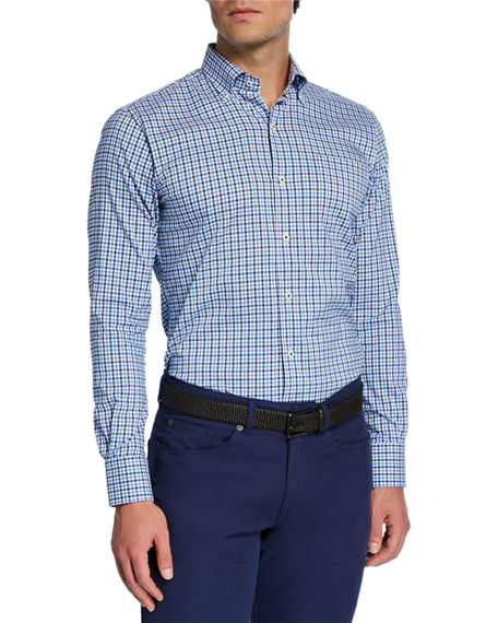 Peter Millar Men's Solid Mesh Sport Shirt