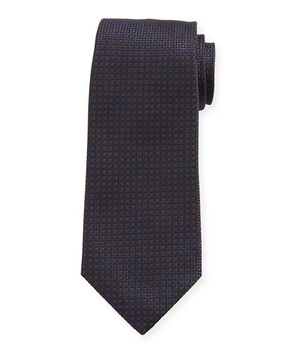 Men's Micro-Diamonds Silk Tie