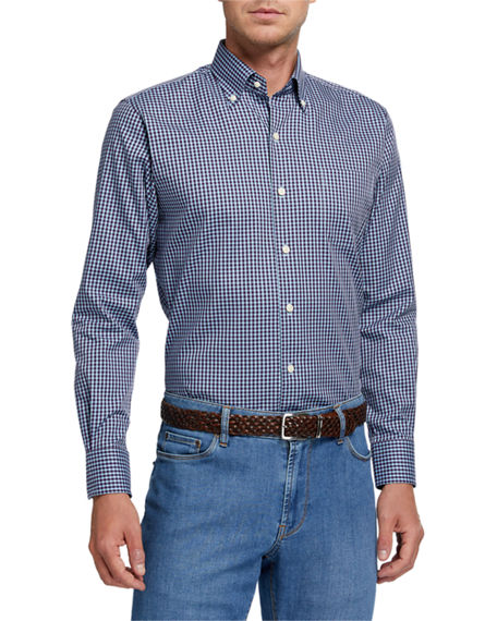 Peter Millar Men's Crown Soft Gingham Sport Shirt
