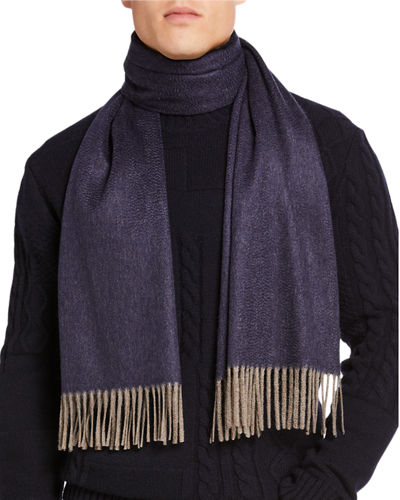 Men's Double-Face Cashmere Scarf