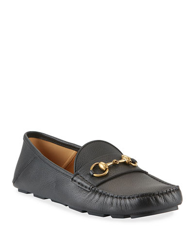 Noel Leather Horsebit Driver Loafers