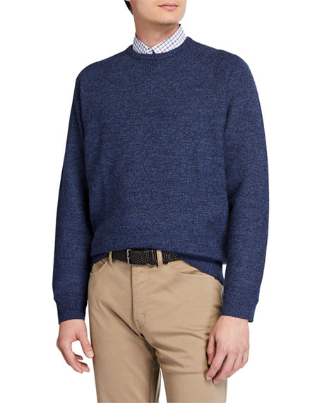 Peter Millar Men's Raglan Honeycomb Wool Sweater