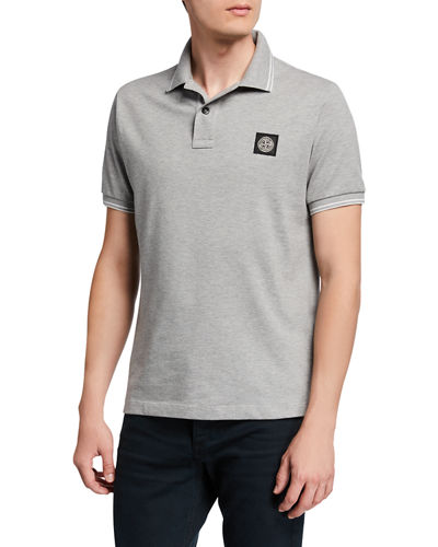 Men's Contrast-Tipped Polo Shirt