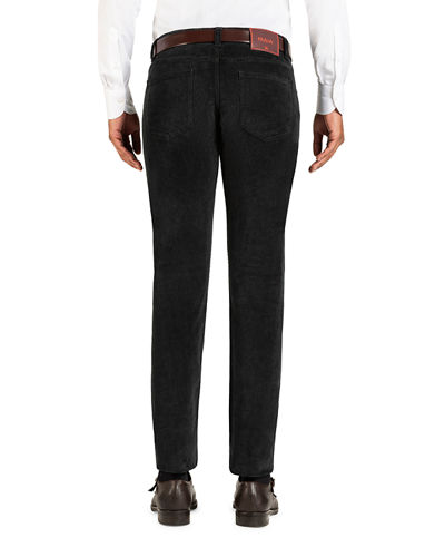 Isaia Men's Straight-Leg 5-Pocket Corduroy Pants