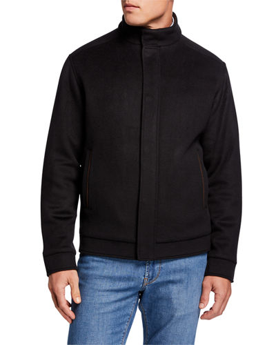 Peter Millar Men's Stretch-Wool Bomber Jacket