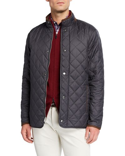 Men's Suffolk Quilted Car Coat