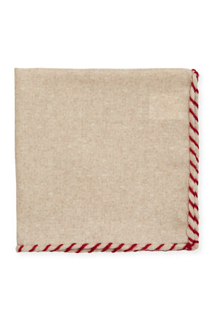 Brunello Cucinelli Men's Solid Wool Pocket Square