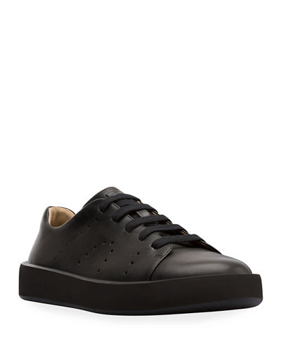 Men's Courb Leather Low-Top Sneakers