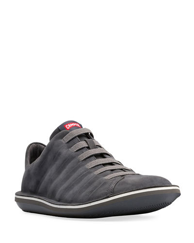 Men's Beetle Leather Low-Top Sneakers