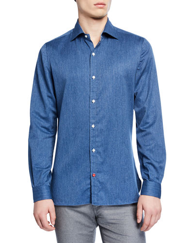 Men's Solid Chambray Sport Shirt