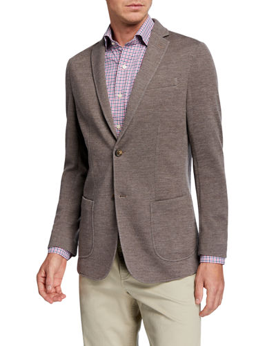 Men's Heathered Two-Button Jacket