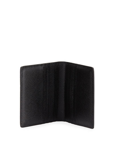 Dolce & Gabbana Men's Logo Mania Leather Bi-Fold Wallet