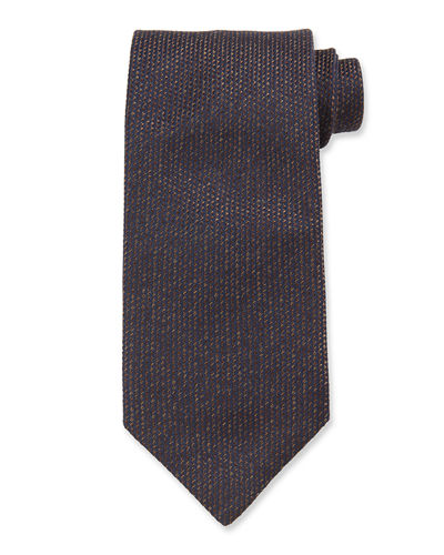 Men's Heathered Solid Silk Tie
