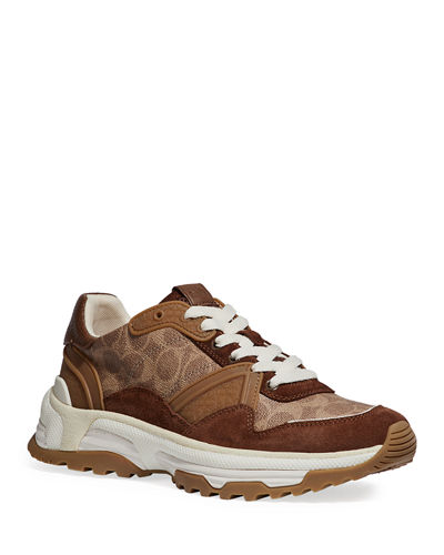 Men's Signature Mixed-Media Dad Sneakers