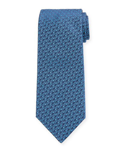 Men's Micro-Pattern Silk Tie