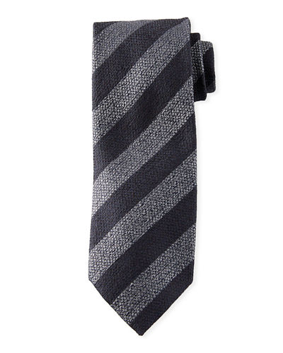 Men's Diagonal Stripe Silk Tie